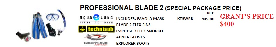 PROFESSIONAL BLADE 2 DIVER SOFTWEAR PACKAGE