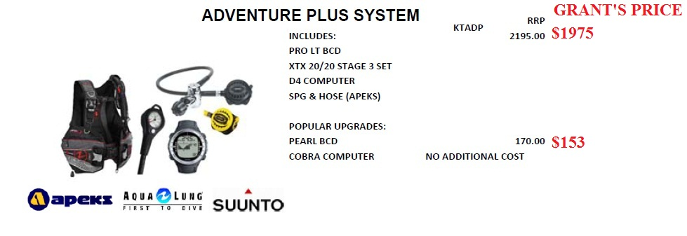 ADVENTURE PLUS DIVE SYSTEM