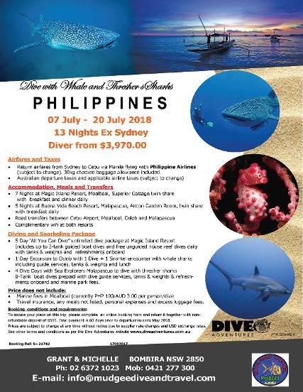 Whale and Thresher Sharks - Philippines 2018